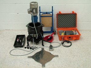 The Face Abrasion Tester and equipment